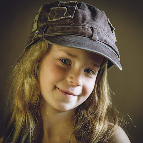 My little Girl by Andy Snider - Babies & Children Child Portraits ( girl child, little girl, family, children, cute, hat )
