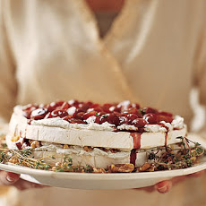 Brie and Walnut Cake