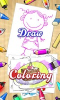 Screenshot of Draw+Coloring Books