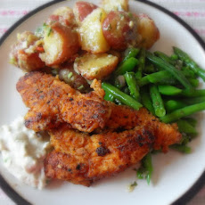 Fiery Chicken Tenders with Blue Cheese Dip
