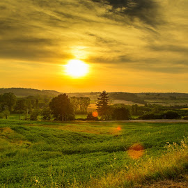 Getting Late in Tuscany by Darin Mellor - Landscapes Travel ( euroe, tuscany, sunset, travel, italy )