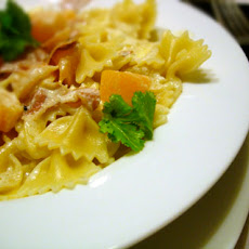 Farfalle with Prosciutto-Melon Cream Sauce