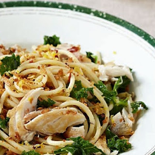 Mackerel, Kale, Lemon And Caper Spaghetti