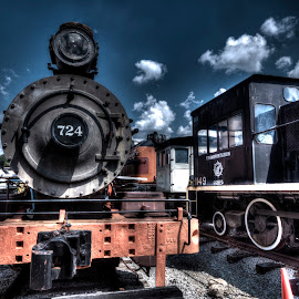 Engine #724 by Greg Bennett - Transportation Trains ( st louis, transportation museum, train )