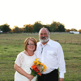 Country Couple by Marilyn Bass - Wedding Bride & Groom ( arkansas photographer, country wedding, weddings, wedding, country couple, arkansas,  )