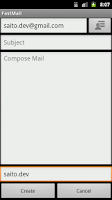 Screenshot of FastMail