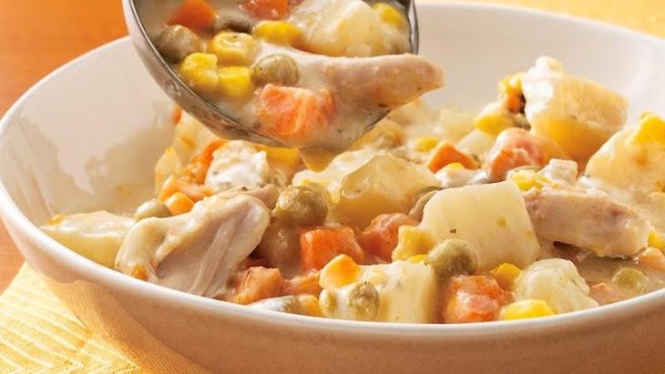 Slow-Cooker Chicken Alfredo Stew Recipe | Yummly