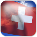 3D Swiss Flag + icon