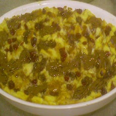 Chocolate, Cranberry, and Creamy Custard Bread Pudding ( in Honor of Amanda Hesser )
