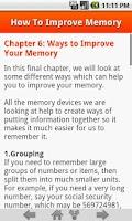Screenshot of How To Improve Memory