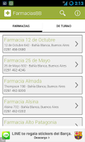 Screenshot of Farmacias de Bahía Blanca