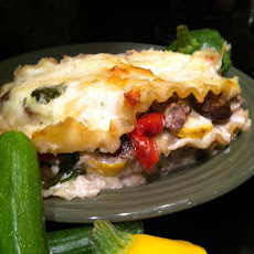 Squash Layered Lasagna with Fresh Mushrooms and Béchamel