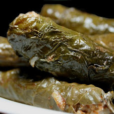Mum's Dolmathes (Stuffed Grape Leaves)