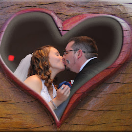 true loves kiss by Phillip Harris - Wedding Bride & Groom ( design, photography )