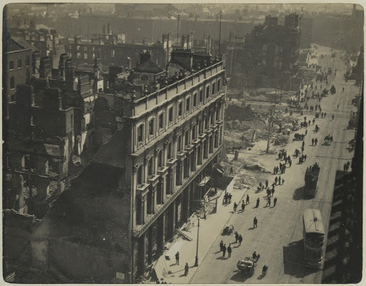 Sackville Street looking south from the summit of Nelson's Pillar