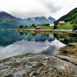 Malangen fjord.... by Radu Marian - Landscapes Travel ( houses, mountains, summer, fjord )