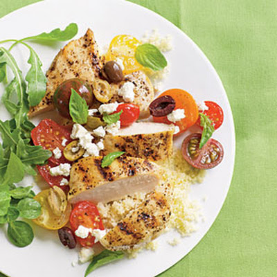 Chicken Breasts with Tomatoes and Olives
