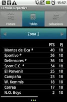 Screenshot of Cañada de Gómez Soccer League