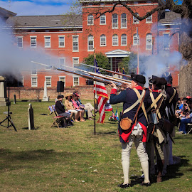 American Revolution grave marking ceremony by Robby Batte - News & Events US Events ( chancellor wythe, dar, cemtery, american revolution, richmond, musket, colonial, revolutionary, shockoe hil cemetery, rva, spring )