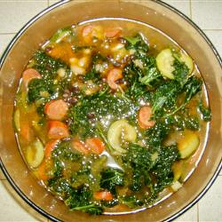 Sausage, Kale, and White Bean Soup Recipe | Yummly