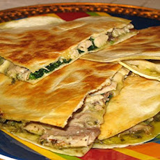 Chicken-Spinach Quesadillas