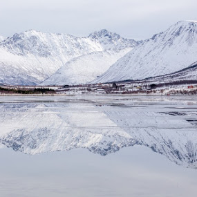 Reflections by Benny Høynes - Landscapes Mountains & Hills ( mountains, winter, nature, snow, sea, lake, fjord )