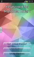 Screenshot of Keyboard for Motorola Razr i