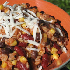 Black and Red Fiesta Beans With Rice