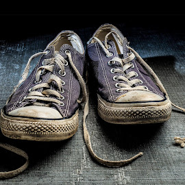 Well Worn by Bob Hynson - Artistic Objects Clothing & Accessories ( worn, blue, tennis, well worn, all stars, tennis shoes,  )