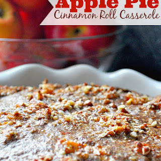 Apple Pie Cinnamon Roll Casserole