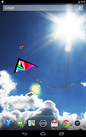 Screenshot of Soaring Kites Live Wallpaper