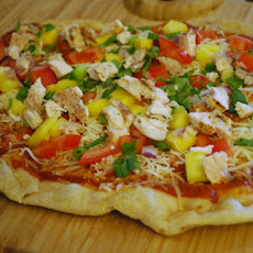 Hawaiian Sourdough Pizza, Grilled