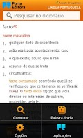 Screenshot of Dicionário Língua Portuguesa