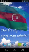 Screenshot of 3D Azerbaijan Flag LWP