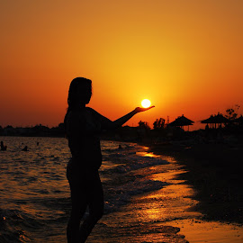 by Maja  Marjanovic - People Street & Candids ( woman, sunset, beach, people, sun )