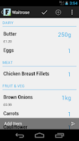 Screenshot of my Food - Grocery Planner
