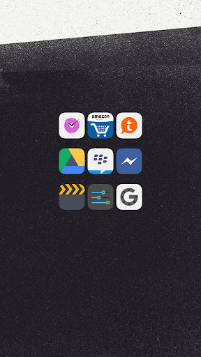 Flat iOS 7 Go Apex Nova Theme - screenshot