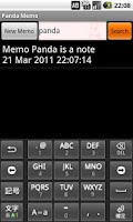 Screenshot of Panda Memo