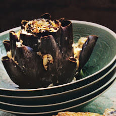 Stuffed Artichokes with Capers and Pecorino Cheese