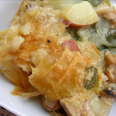 Country Chicken Casserole  Pie