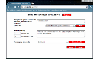 Screenshot of Echo Messenger