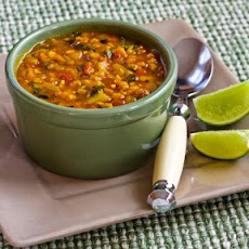 Mexican Red Lentil Stew with Lime and Cilantro