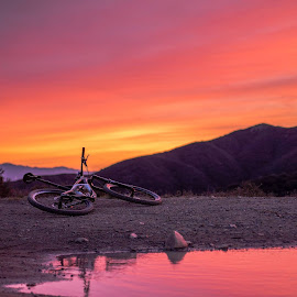 The sunrise over Corona this morning was amazing... especially when viewed from the Cleveland National Forest! by Jon Lundy - Transportation Bicycles
