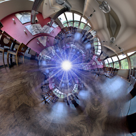 Wookey Hole Hotel Bistro by Simon Eastop - Digital Art Places ( droste, bistro, hotel, wookey, hole )