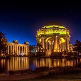 PALACE of FINE ARTS San Francisco by Julio Gonzalez - Buildings & Architecture Public & Historical ( long exposure, night, architecture, san francisco, palace of fine arts )