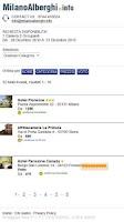 Screenshot of Milan Hotels  Milano Alberghi