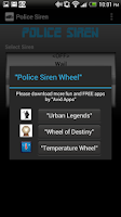 Screenshot of Police Siren Wheel