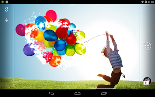 Screenshot of Galaxy S4 Balloon