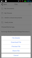 Screenshot of File Sharing