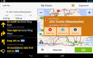 Screenshot of CoPilot Truck UK + IRE
